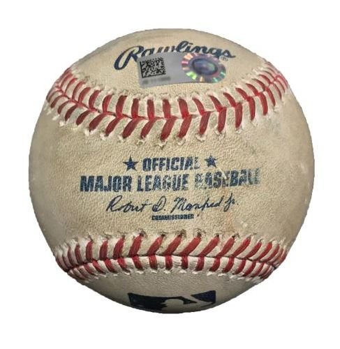 Photo of Game-Used Baseball from Pirates vs. Mariners on 7/27/15 - David Freese Double