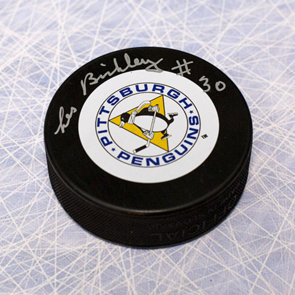 Les Binkley Pittsburgh Penguins Autographed Hockey Puck