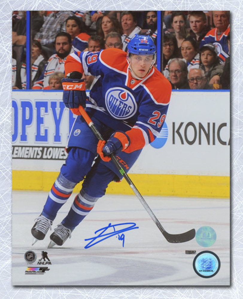 Leon Draisaitl Edmonton Oilers Autographed First Career Game 8x10 Photo
