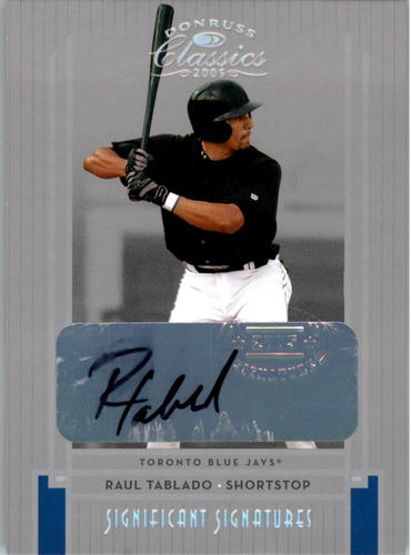 Photo of 2005 Donruss Classics Significant Signatures Silver #206 Raul Tablado/100