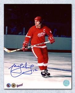 Marcel Dionne Detroit Red Wings Autographed Captain 8x10 Photo