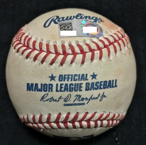 Photo of Game-Used Baseball from Pirates vs. Phillies on 7/24/2016 - Taillon to Howard, Single