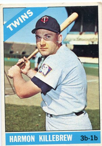 Photo of 1966 Topps #120 Harmon Killebrew -- Twins Hall of Famer