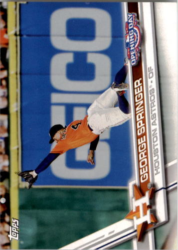 Photo of 2017 Topps Opening Day #31 George Springer