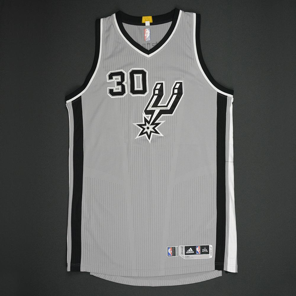 Joel Anthony - San Antonio Spurs - Gray Playoffs Game-Issued Jersey - 2016-17 Season