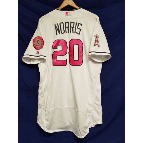 Photo of Bud Norris Game-Used Home Mother's Day Jersey