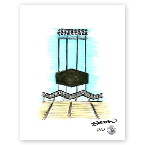Photo of Dodger Stadium Sketch - Limited Edition Print 42/42 by S. Preston