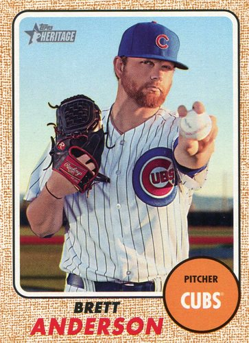 Photo of 2017 Topps Heritage #700 Brett Anderson Cubs post-season