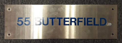 Photo of Authenticated Team Issued Locker Tag - #55 Brian Butterfield (2007 Season). 18 inches by 5.5 inches.