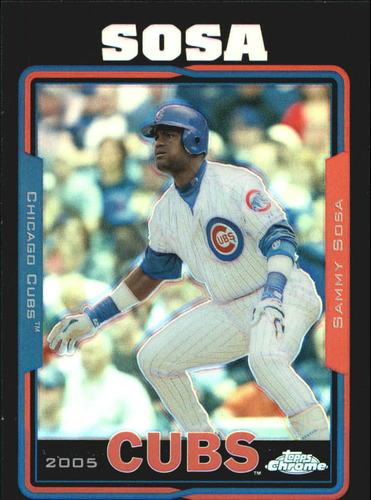 Photo of 2005 Topps Chrome Black Refractors #10 Sammy Sosa