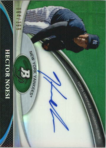 Photo of 2011 Bowman Platinum Prospect Autograph Green Refractors #HN Hector Noesi