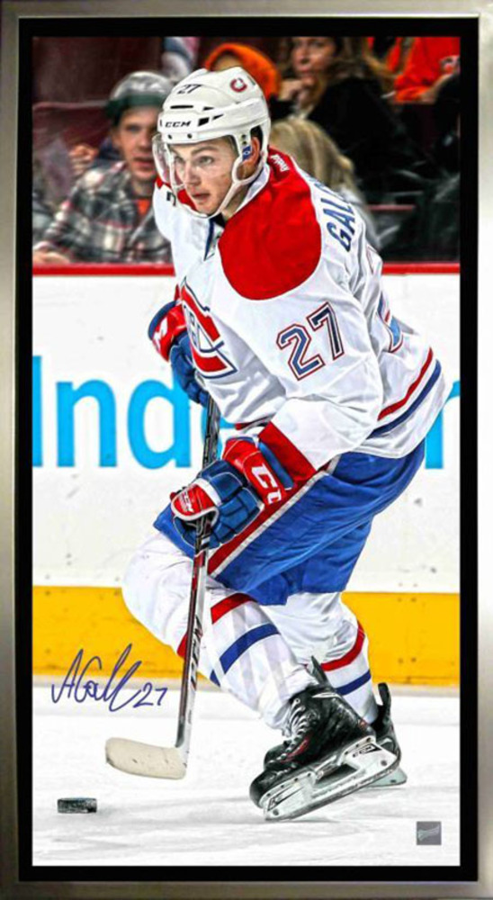 Signed Framed Alex Galchenyuk 14x28