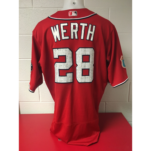 Photo of Game-Used Jersey - Jayson Werth