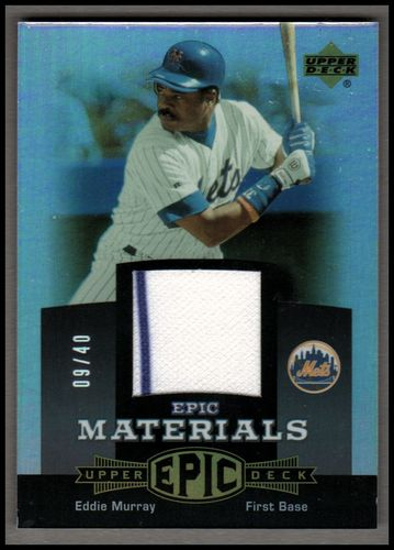 Photo of 2006 Upper Deck Epic Materials Grey #EM1 Eddie Murray Jsy/40