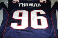 PATRIOTS - ADALIUS THOMAS SIGNED PATRIOTS AUTHENTIC JERSEY - SIZE 48