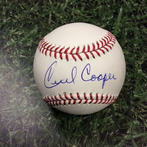 Photo of Cecil Cooper Autographed Baseball
