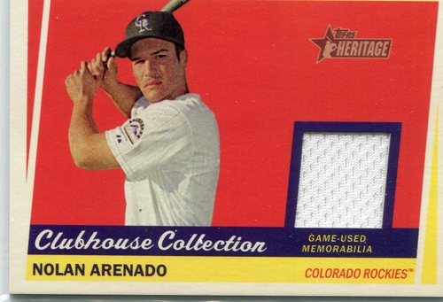 Photo of 2016 Topps Heritage Clubhouse Collection Relics Nolan Arenado -- Rockies post-season