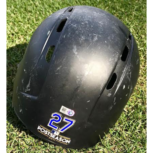 Photo of Colorado Rockies Trevor Story Team-Issued Batting Helmet
