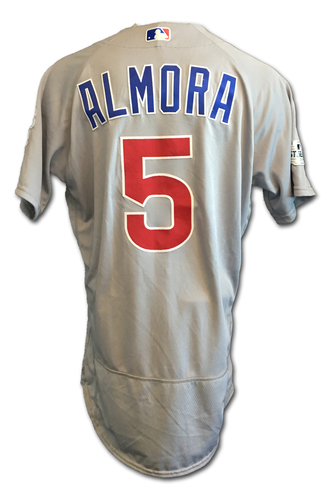 Albert Almora Game-Used Jersey -- NLDS Game 2 -- Cubs at Nationals -- 10/7/17