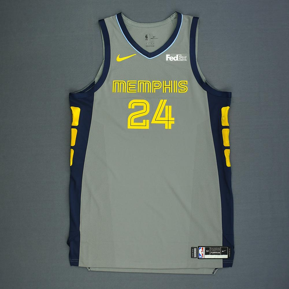 Dillon Brooks - Memphis Grizzlies - Game-Worn City Edition Jersey - 2018-19 Season