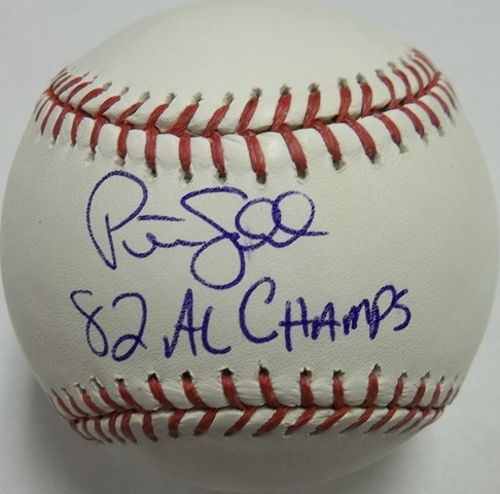 "Photo of Peter Ladd ""82 AL Champs"" Autographed Baseball"