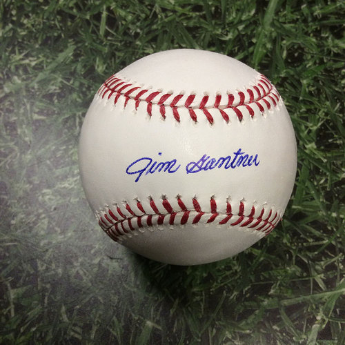 Photo of Jim Gantner Autographed Baseball