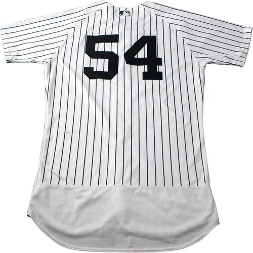 Photo of Aroldis Chapman New York Yankees 2017 Game-Used #54 Pinstripe Jersey (5/12/2017)(Size 46)