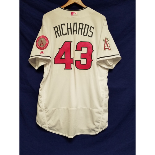 Photo of Garrett Richards Team-Issued Mother's Day Jersey