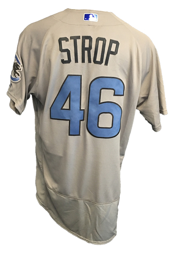 Photo of Pedro Strop Game-Used Father's Day Jersey -- Cubs vs Pirates -- (1 IP, 1 H, 0 ER) -- 6/17/17