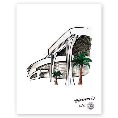 Photo of Marlins Park Sketch - Limited Edition Print 42/42 by S. Preston