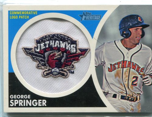 Photo of 2012 Topps Heritage Minors Cap Logo #GS George Springer -- Astros post-season