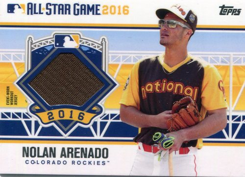 Photo of 2016 Topps Update All-Star Stitches  Nolan Arenado -- Rockies post-season