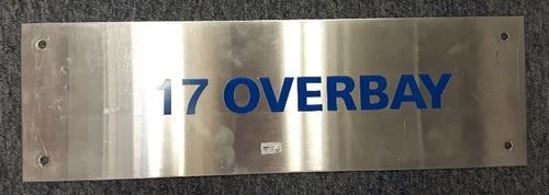 Photo of Authenticated Team Issued Locker Tag - #17 Lyle Overbay (2007 Season). 18 inches by 5.5 inches.