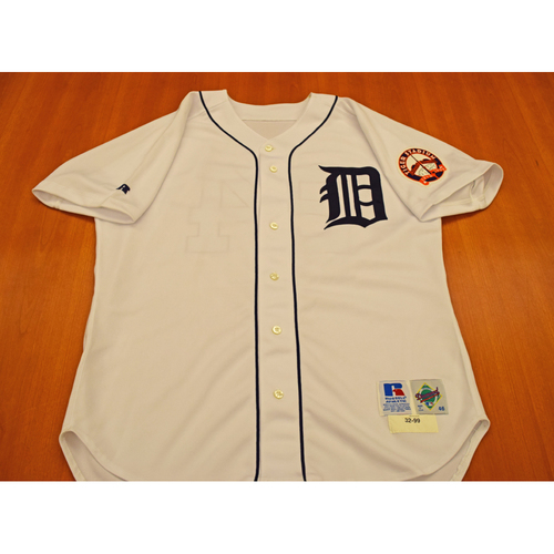 Photo of Jason Wood Detroit Tigers Final Game at Tiger Stadium Game Worn Jersey - Not Authenticated by MLB