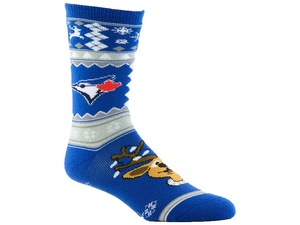 Toronto Blue Jays Ugly Christmas Socks by G3
