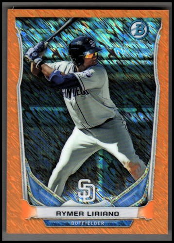 Photo of 2014 Bowman Chrome Bowman Scout Top 5 Mini Orange Refractors #BMSDP3 Rymer Liriano