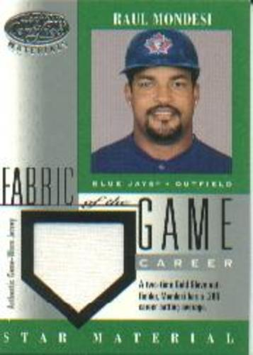 Photo of 2001 Leaf Certified Materials Fabric of the Game #109CR Raul Mondesi/286