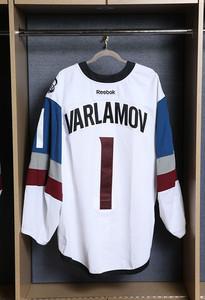 Semyon Varlamov Colorado Avalanche Game Worn Stadium Series Jersey