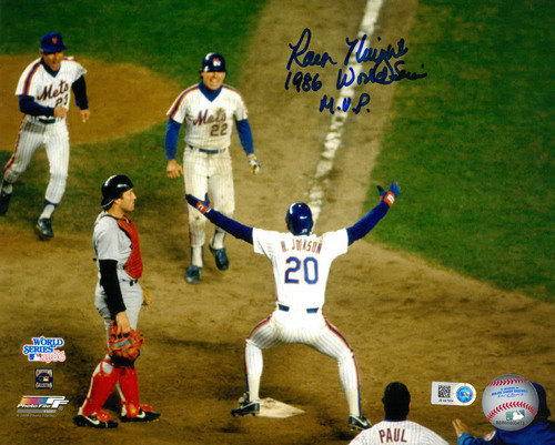 "Photo of Ray Knight - Autographed 8X10 Photo - Inscribed ""1986 WS MVP"""