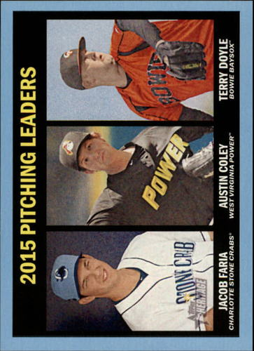 Photo of 2016 Topps Heritage Minors Blue #198 Terry Doyle/Jacob Faria/Austin Coley LL