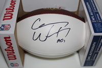 NFL - EAGLES CARSON WENTZ SIGNED PANEL BALL