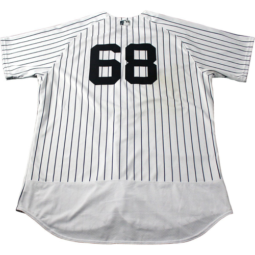 Photo of Dellin Betances New York Yankees 2017 Game-Used #68 Pinstripe Jersey (5/12/2017)(Size 52)
