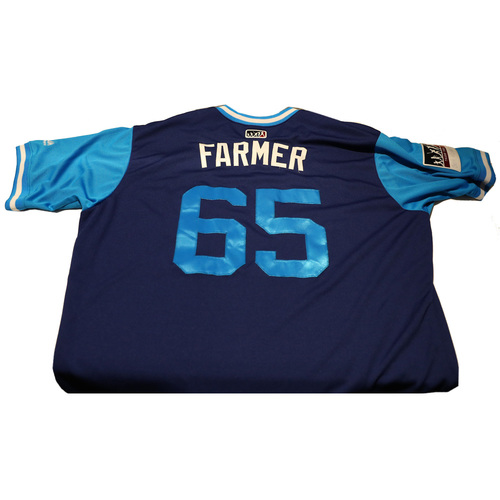 "Photo of Kyle ""Farmer"" Farmer Los Angeles Dodgers Game-Used Players Weekend Jersey"