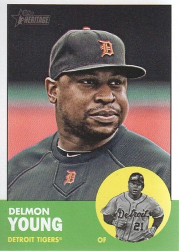 Photo of 2012 Topps Heritage #25 Delmon Young