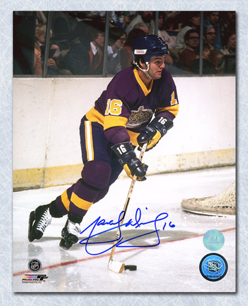 Marcel Dionne Los Angeles Kings Autographed Playmaker Action 8x10 Photo