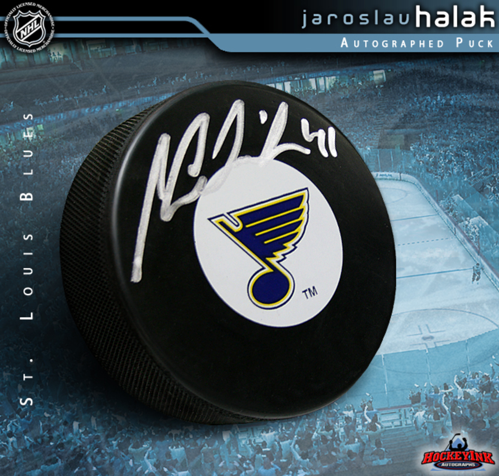 JAROSLAV HALAK Signed St. Louis Blues Puck