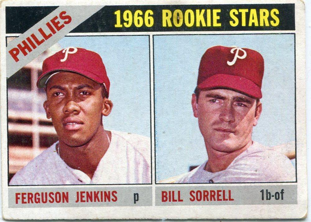 1966 Topps #254 Rookie Stars/Fergie Jenkins Rookie Card/Bill Sorrell RC