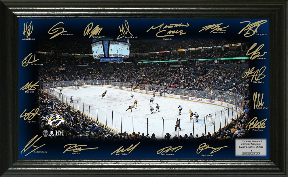 Serial #1 Nashville Predators Signature Rink
