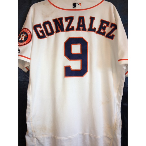 Photo of Marwin Gonzalez Game-Used Home Jersey