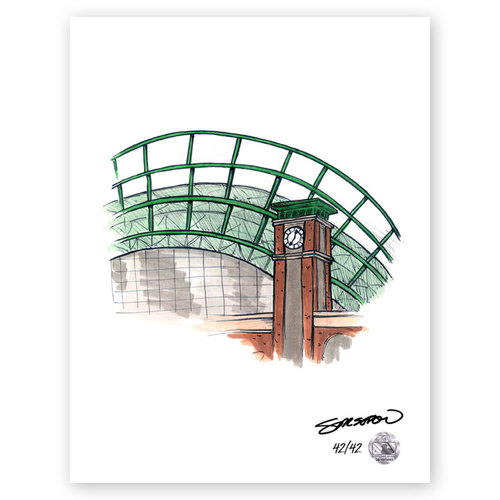 Photo of Miller Park Sketch - Limited Edition Print 42/42 by S. Preston
